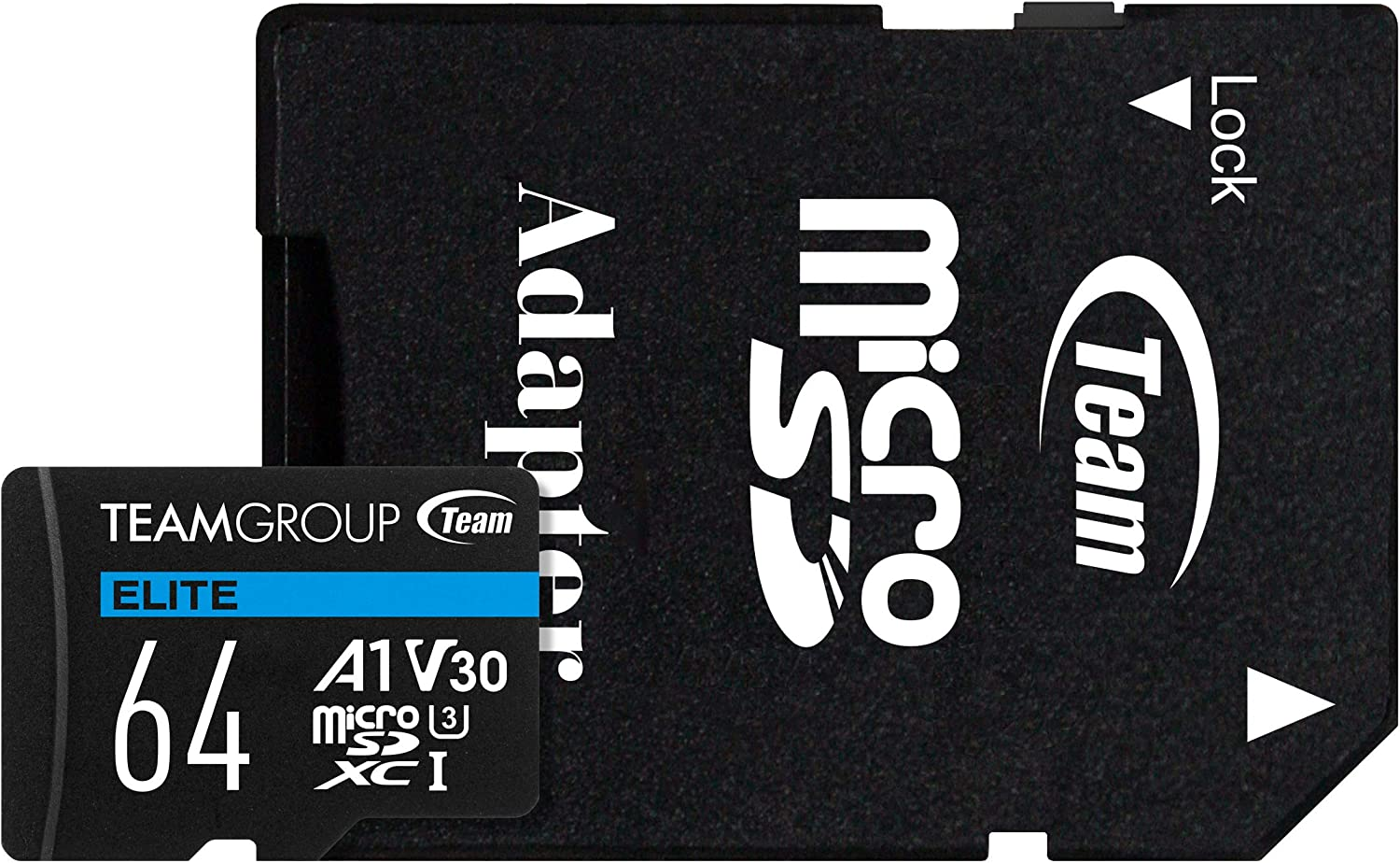 Flash Card Micro Sd 64gb Xc Team Elite A1 V30 Computers Accessories