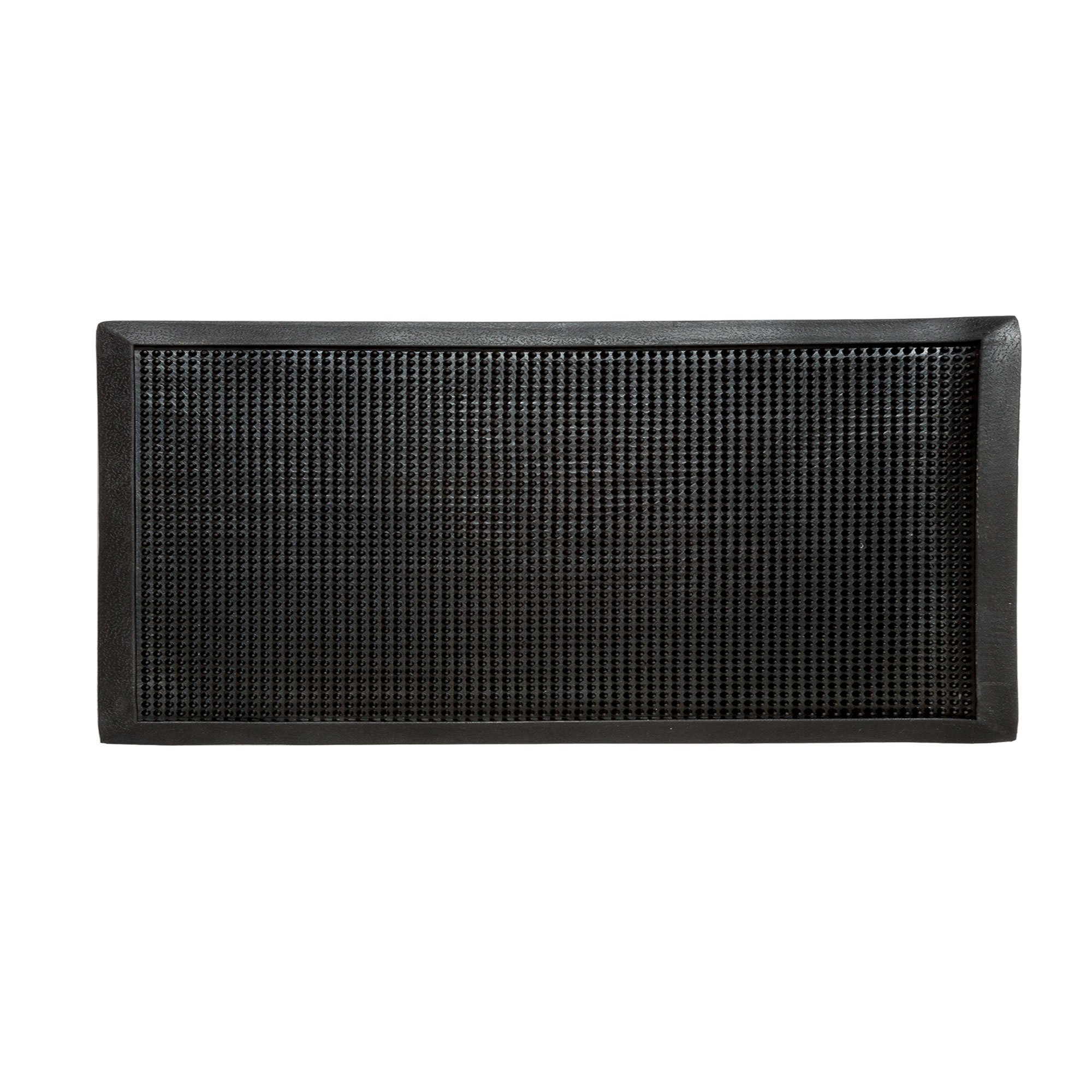 Iron Forge Tools Heavy Duty Fingertip Scraper Entrance Mat - 36 Inch by 72 Inch - Rubber Outdoor Sanitizing Floor Rug