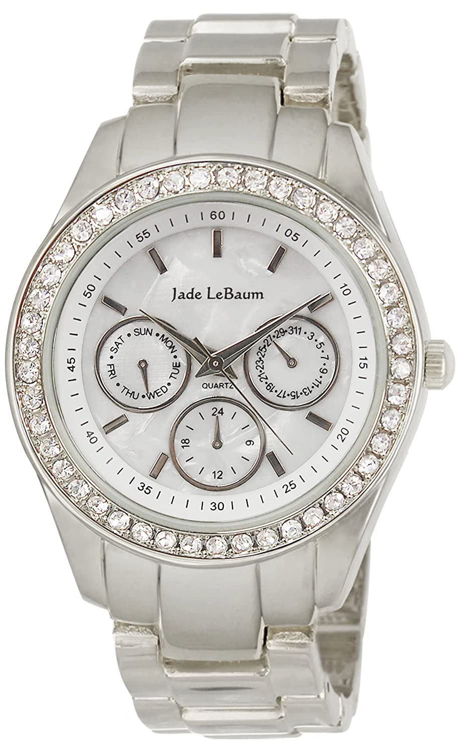 Amazon.com: Womens Bracelet Watch Rhinestone Accented in Silver-Tone Reloj de Damas Jade LeBaum - JB202730G: Jade LeBaum: Watches