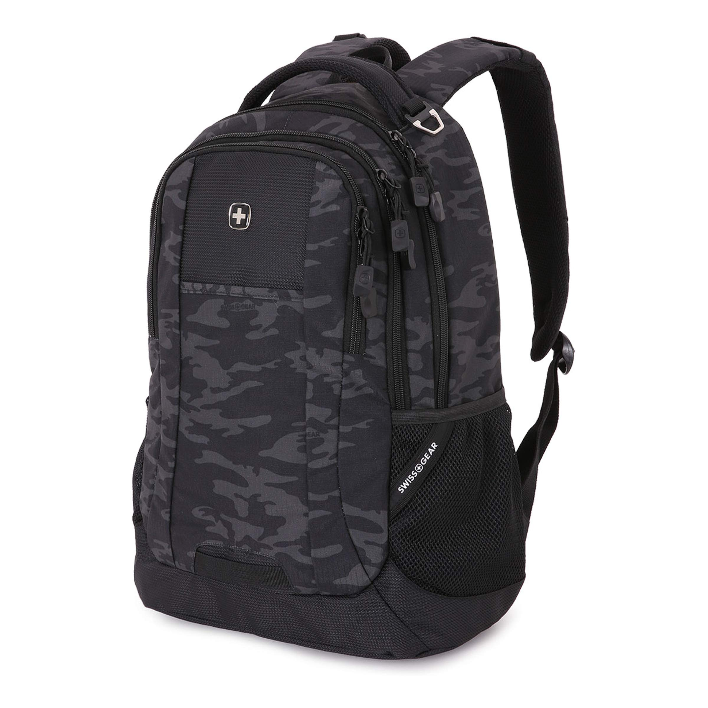 SwissGear Cecil Backpack, Black Cod/Camo, One Size by Swiss Gear