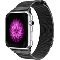 YOUKEX Compatible Apple Watch Milanese Loop 38mm / 42mm, Stainless Steel Mesh Strap with Magnetic Closure for iWatch Series 3 Series 2 Series 1