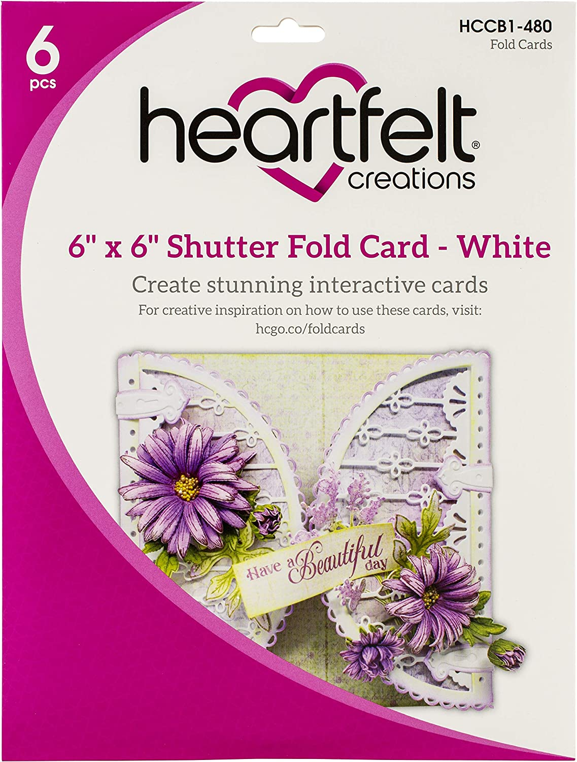 White HEARTFELT CREATIONS CIRCLE CARD SHUTTER