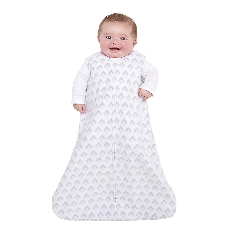 Halo Innovations Sleep Sack Wearable Micro Fleece Blanket, Brushed Aztec Gray, Large 12398