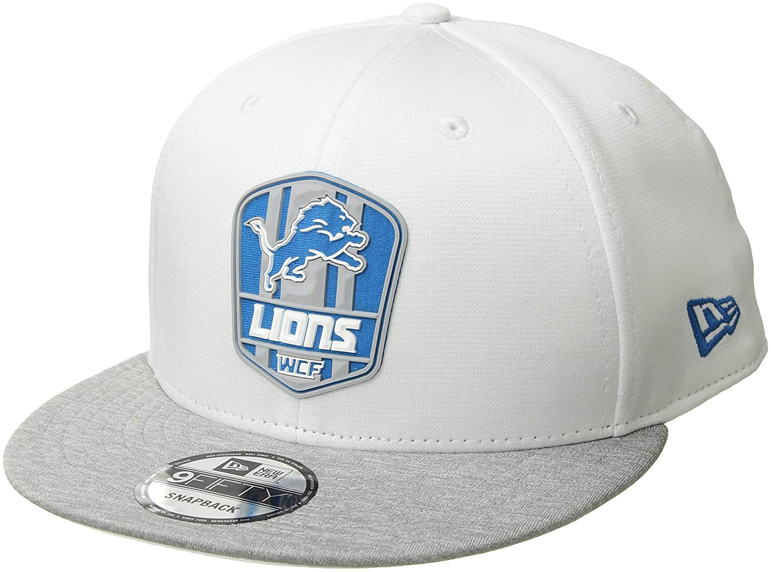 Amazon.com   New Era Detroit Lions 2018 NFL Sideline Road Official 9FIFTY  Snapback Hat   Sports   Outdoors 57e0ff861f5