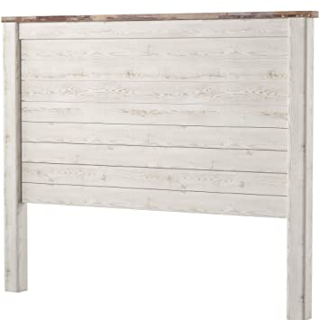 buy online b4f84 bc91b Ashley Furniture Signature Design - Willowton Full Panel Headboard -  Contemporary Style - Component Piece - Queen Size - White