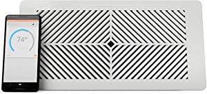 """Flair Smart Vent, Smart Vent for Home Heating and Cooling. Compatible with Alexa, Works with ecobee, Honeywell Smart thermostats, and Google Assistant. Requires Flair Puck. (6"""" x 10"""")"""