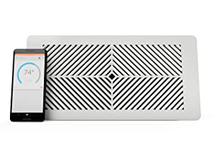 "Flair Smart Vent, Smart Vent for Home Heating and Cooling. Compatible with Alexa, Works with ecobee, Honeywell Smart thermostats, and Google Assistant. Requires Flair Puck. (6"" x 10"")"