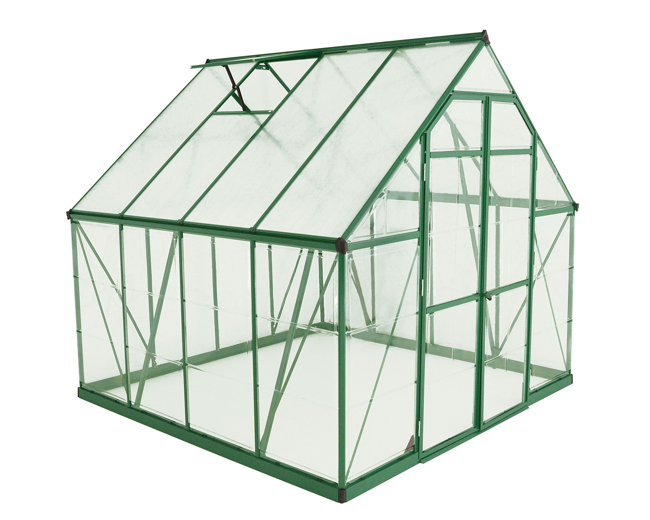 Palram Balance Hobby Greenhouse, 8' x 8', Green