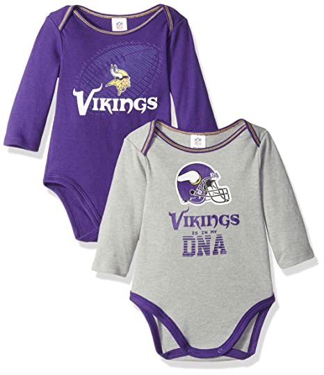 2d563fb8c Image Unavailable. Image not available for. Color  NFL Minnesota Vikings  Unisex-Baby 2-Pack Long-Sleeve Bodysuits ...