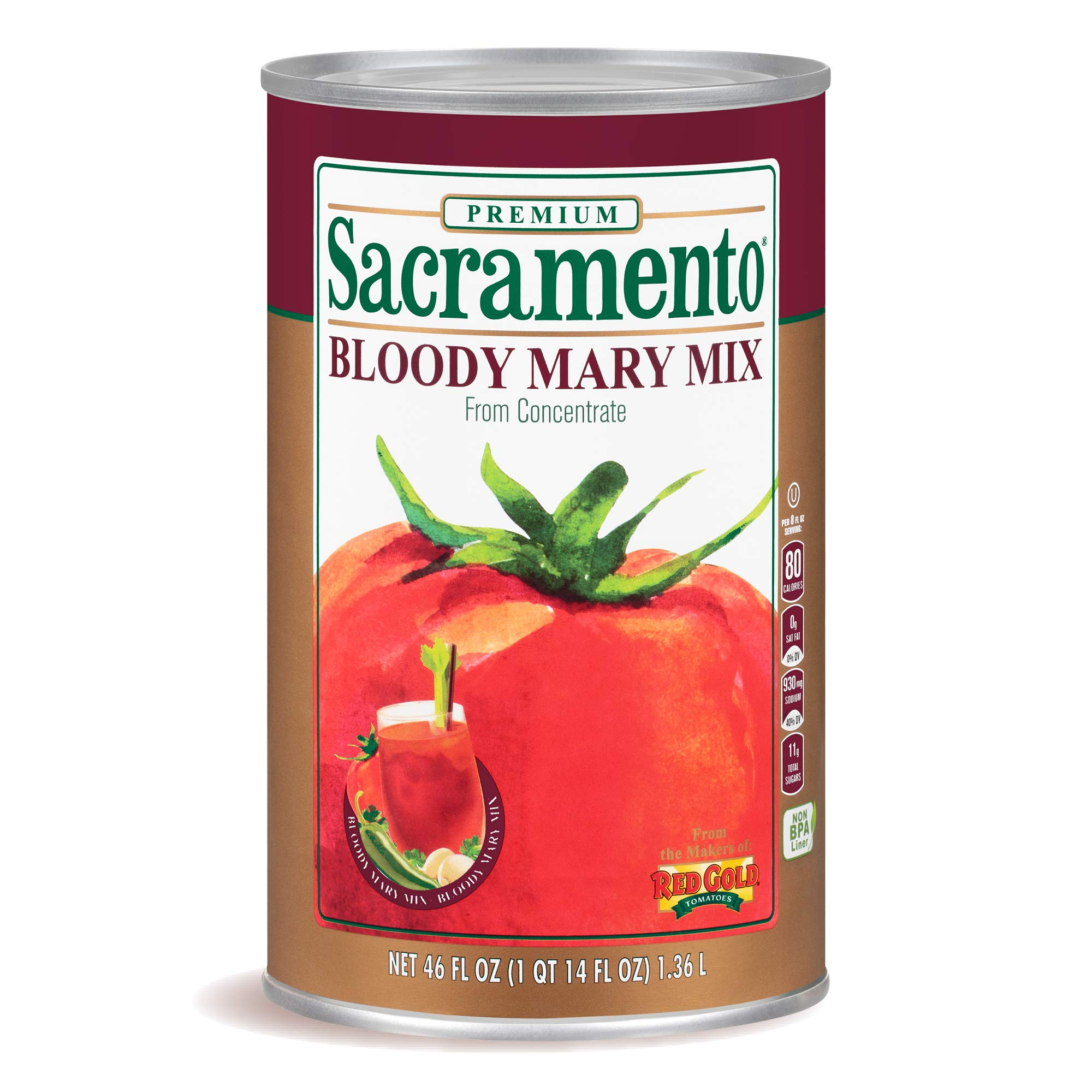 Sacramento Bloody Mary Mix, 46oz Can (Pack of 12)