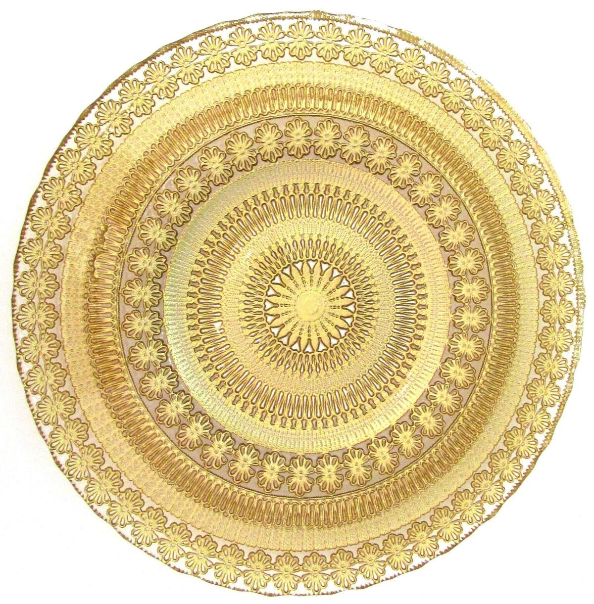 Red Pomegranate 7357-1 Gilded Tableware Charger Plate, 13'', Gold/Clear