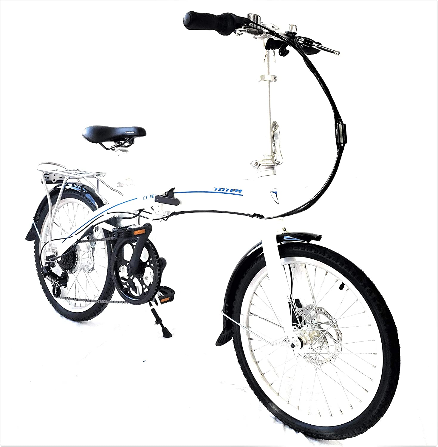 Electric Pedal Bike >> Amazon Com Totem Electric Bicycle 250w Commuter Series 20 Folding