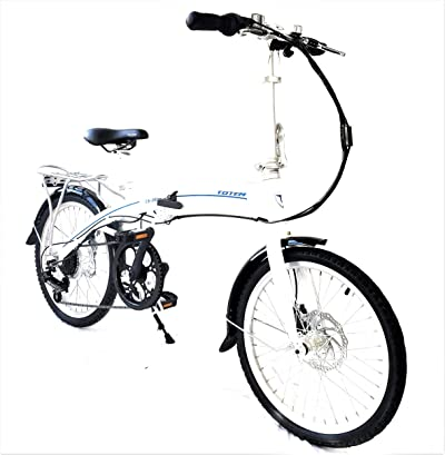 "Totem Electric Bicycle 250W Commuter Series 20"" Folding Bike w/Removable 36V Battery"