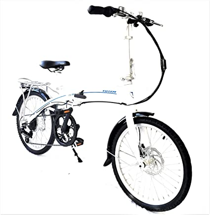 """5bf036eb2b8 Totem Electric Bicycle 250W Commuter Series 20"""" Folding Bike  w/Removable 36V Battery,"""