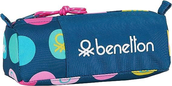 Safta Estuche Escolar de Benetton, Multicolor (Topos Marino): Amazon.es: Equipaje