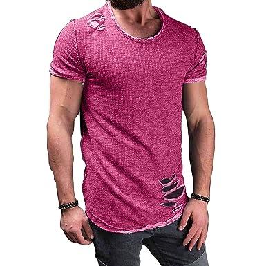 Mode T Lt1fkjc Chemises Kootk Déchiré Courtes Tops Homme Shirts Manches v0n8mwyNO