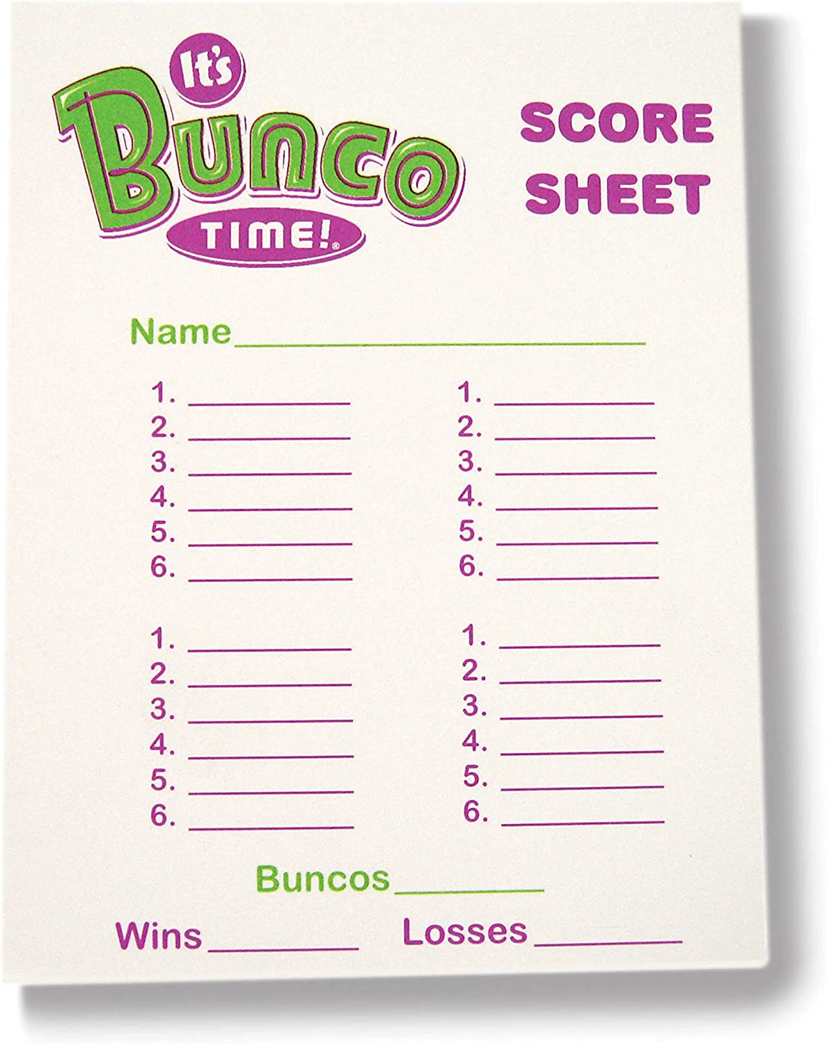 This is an image of Terrible Printable Bunco Sheets