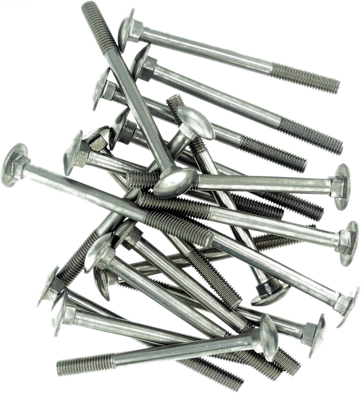 M5 Cup Square Carriage Bolt A2 Pack of 10 5mm x 30mm - Stainless Steel Partially Threaded
