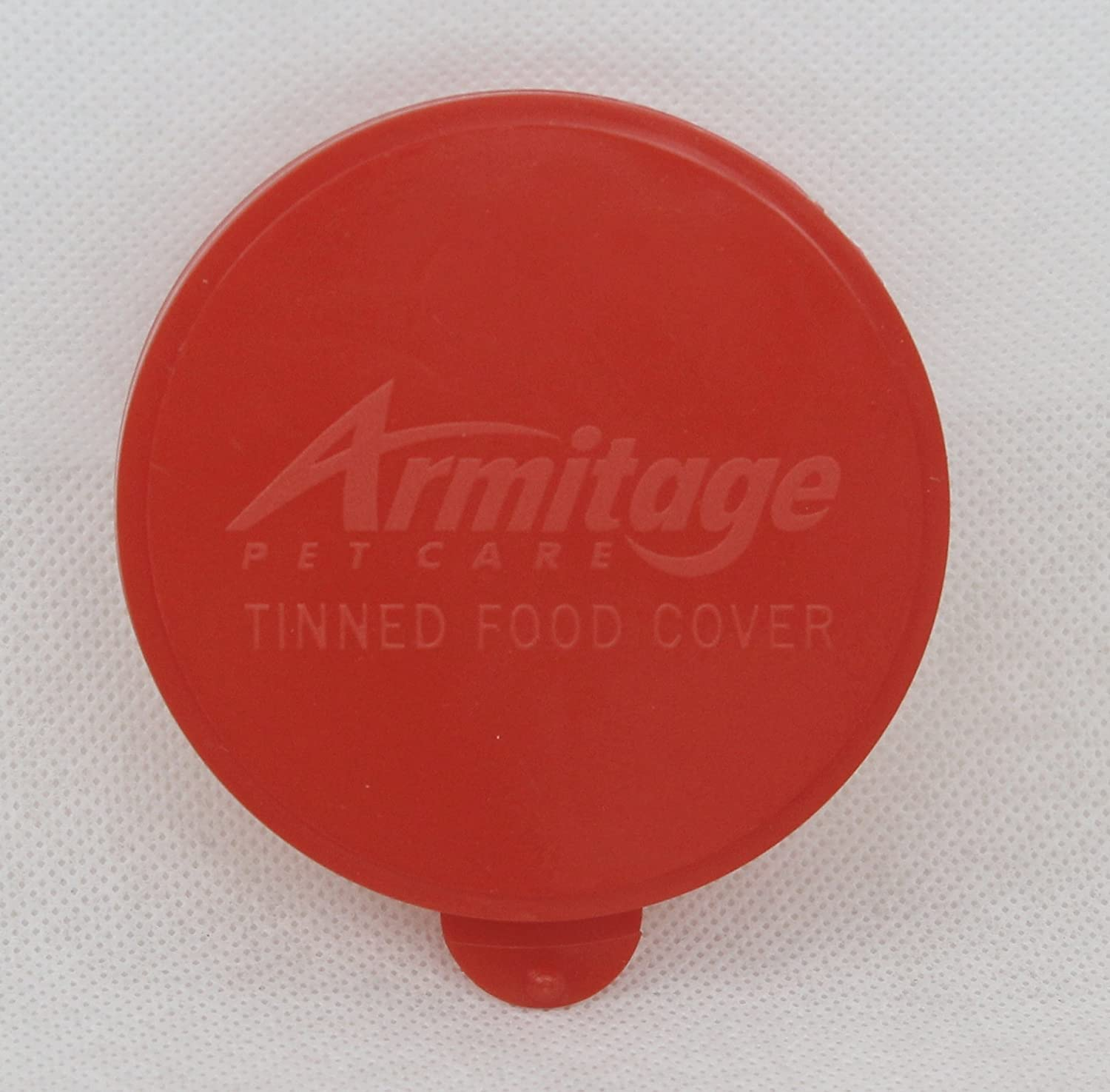 Armitages Canned Food Cover, Red, Fits 400g Tins, Standard 7.5cm Tin (1 cover)