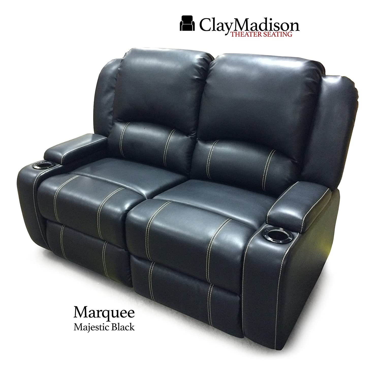 reclining s velocity southern cup loveseat holders phyl motion furniture by bernie power headrest with