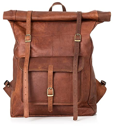 a129c20d88e1 Leather Classy Retro/Vintage Dapper Rucksack/Backpack for Men and ...