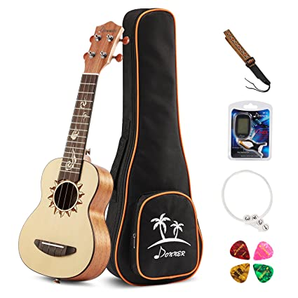 Amazon Donner Soprano Ukulele Spruce Dus 3 21 Inch With Ukulele