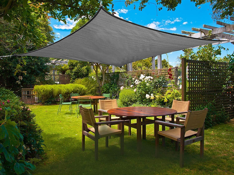 per spazi allaperto Color Crema Sunnylaxx Tenda a Vela Quadrata 2 x 2 Metri Resistente e Traspirante