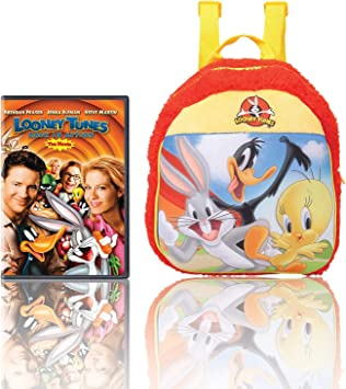 Warner Bros Looney Tunes Plush Bag (MBE-WB099) 100% Imported + Looney Tunes - Back in Action (DVD)