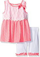 Little Lass Girls' 2 Pc Lace Trim Bike Short Set
