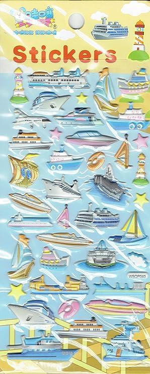 3d Boote Schiffe Kreuzfahrt Segelboot Aufkleber 1 Blatt 220