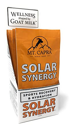MT. CAPRA SINCE 1928 Solar Synergy Electrolyte and Sports Recovery Hydration Powder, Boost Athletic Performance, Combat Dehydration with 9 Superfruits – 10 Pack