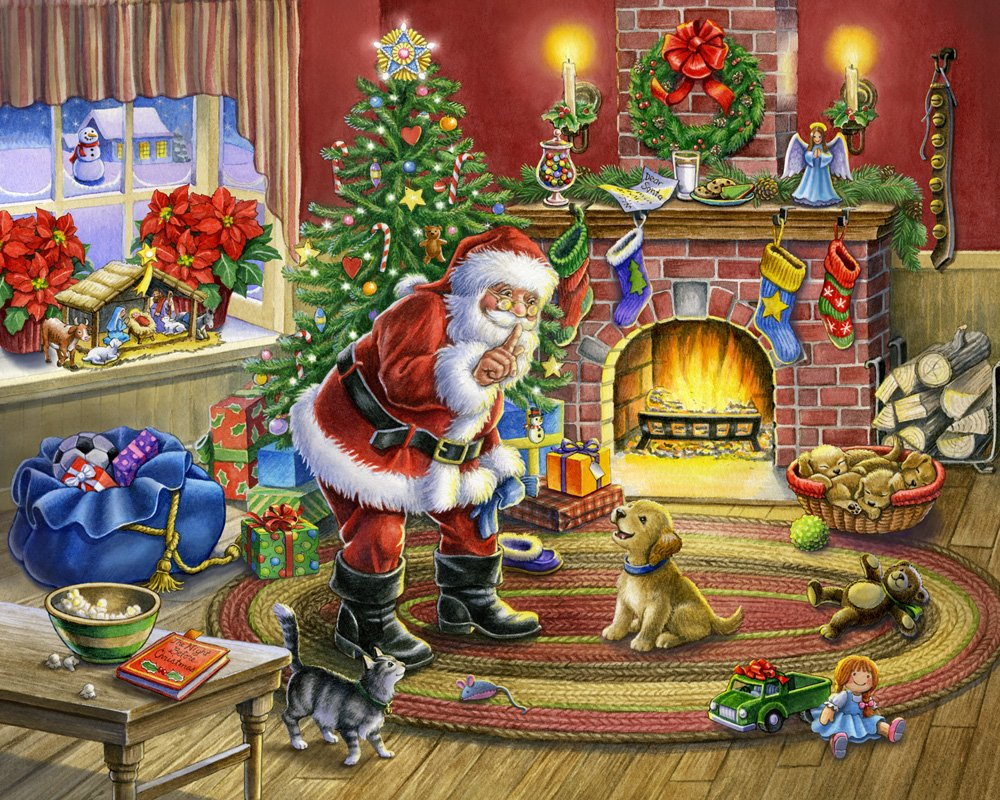 No Barking Christmas Jigsaw Puzzle 1000 Piece Vermont Christmas Company