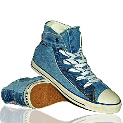 7b06290f4d0efa Levis Horse Recycled Jeans Schuhe used look blau Gr. 46  Amazon.de ...