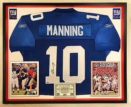 Eli Manning Autographed Signed Custom Framed New York Giants
