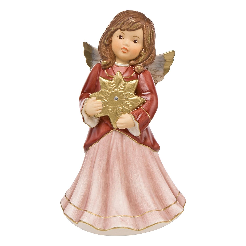 Goebel Weihnachten Schöner Stern Weihnachtsfigur Dekofigur Porzellan Bordeaux
