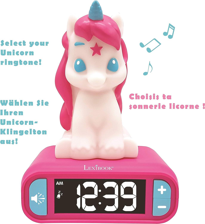 Amazon.es: LEXIBOOK Reloj Despertador del Unicornio, Pantalla LCD ...