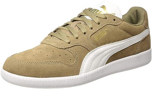 Puma Icra Trainer SD Baskets Basses Mixte Adulte Marron (Fossil Puma White Puma Team Gold 41) 44 EU (9.5 UK)