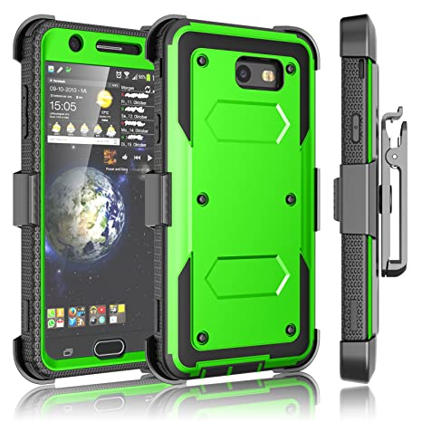 Tekcoo Galaxy J7 Sky Pro Case, Tekcoo Galaxy J7 V/J7V/J7 Perx Holster Clip, [TShell] [Built-in Screen] Locking Secure Swivel Belt Kickstand Phone ...
