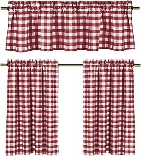 Amazon.com: gingham kitchen curtains