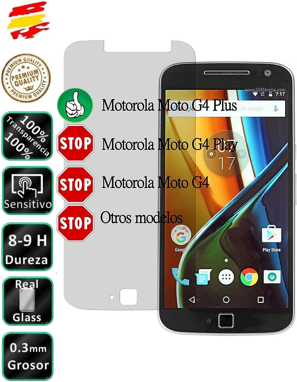 Movilrey Protector para Motorola Moto G4 Plus Cristal Templado de Pantalla Vidrio 9H para movil: Amazon.es: Electrónica