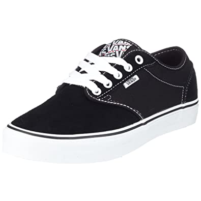 799c2c3b7d Vans Mens Atwood Authentic Skate Sneakers Black White