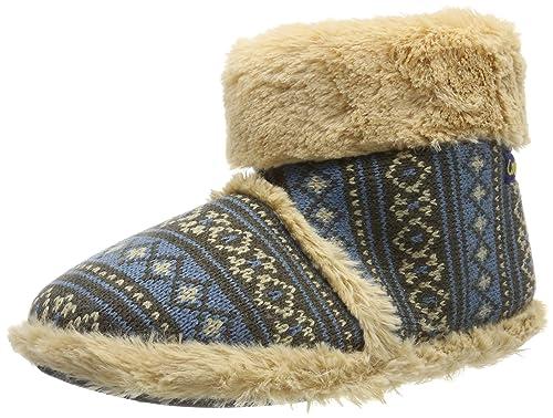 7aa63292e24 Nuevo Estilo Coolers Para Hombre Bota Cálida Mullido Cuello Pantuflas In  Fair Isle Estampado De Diseño: Amazon.es: Zapatos y complementos