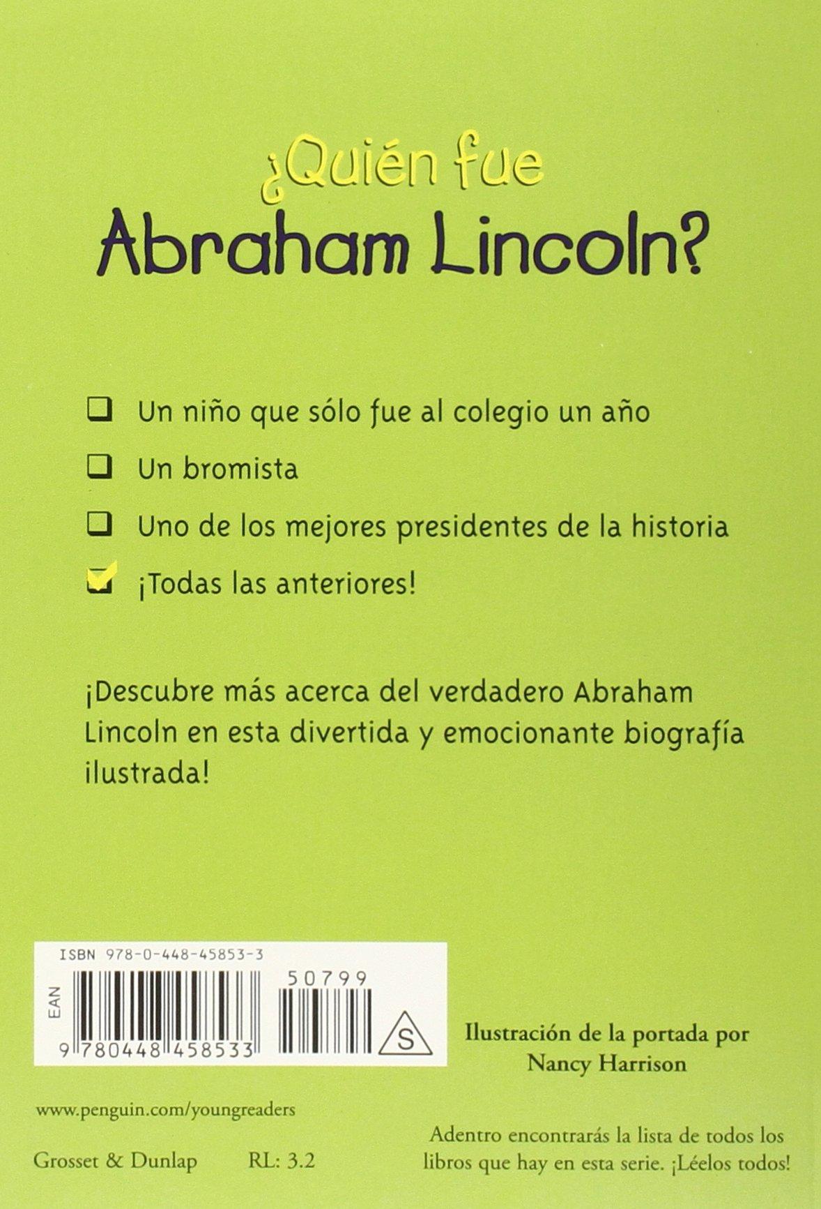 quién Fue Abraham Lincoln? (Quien Fue...?): Amazon.es: Janet B ...