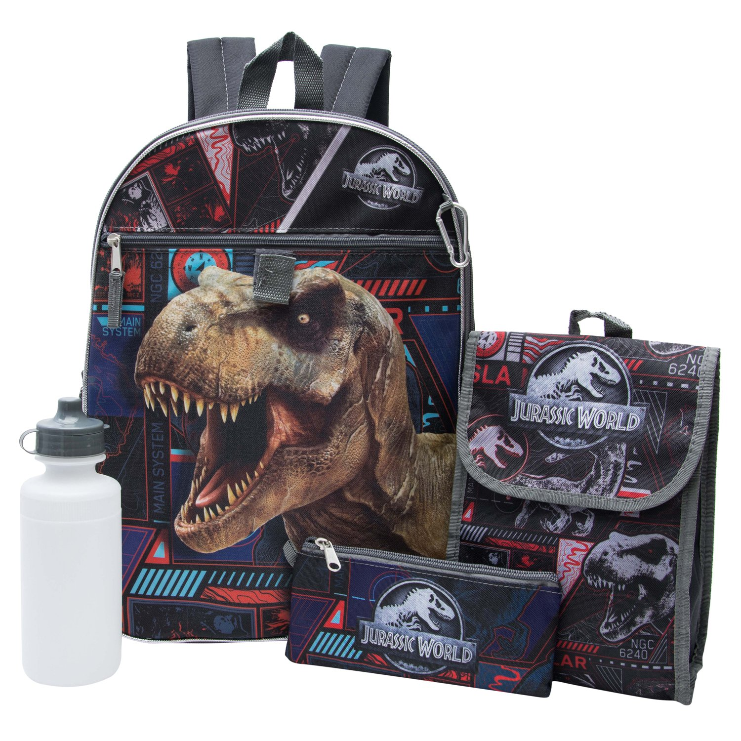 Disney Backpack, Lg Jurassic Park 5in1