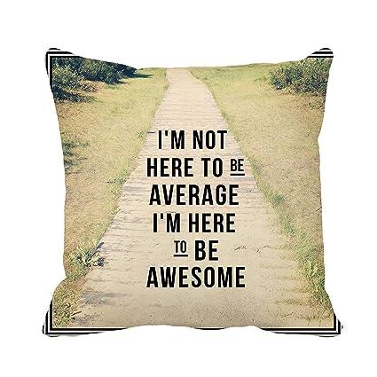 Average Throw Pillow Size.Amazon Com Awowee Throw Pillow Cover Inspirational