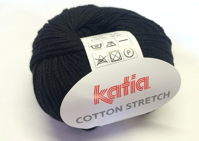 50/g negro Ovillo de lana de algod/ón Katia 002