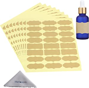 Wisdompro Fancy Shape Stickers Labels for Essential Oil Bottle, Food Jars, Container, Storage Bins and Christmas Gifts - 8 Sheet (192Pcs) - Large