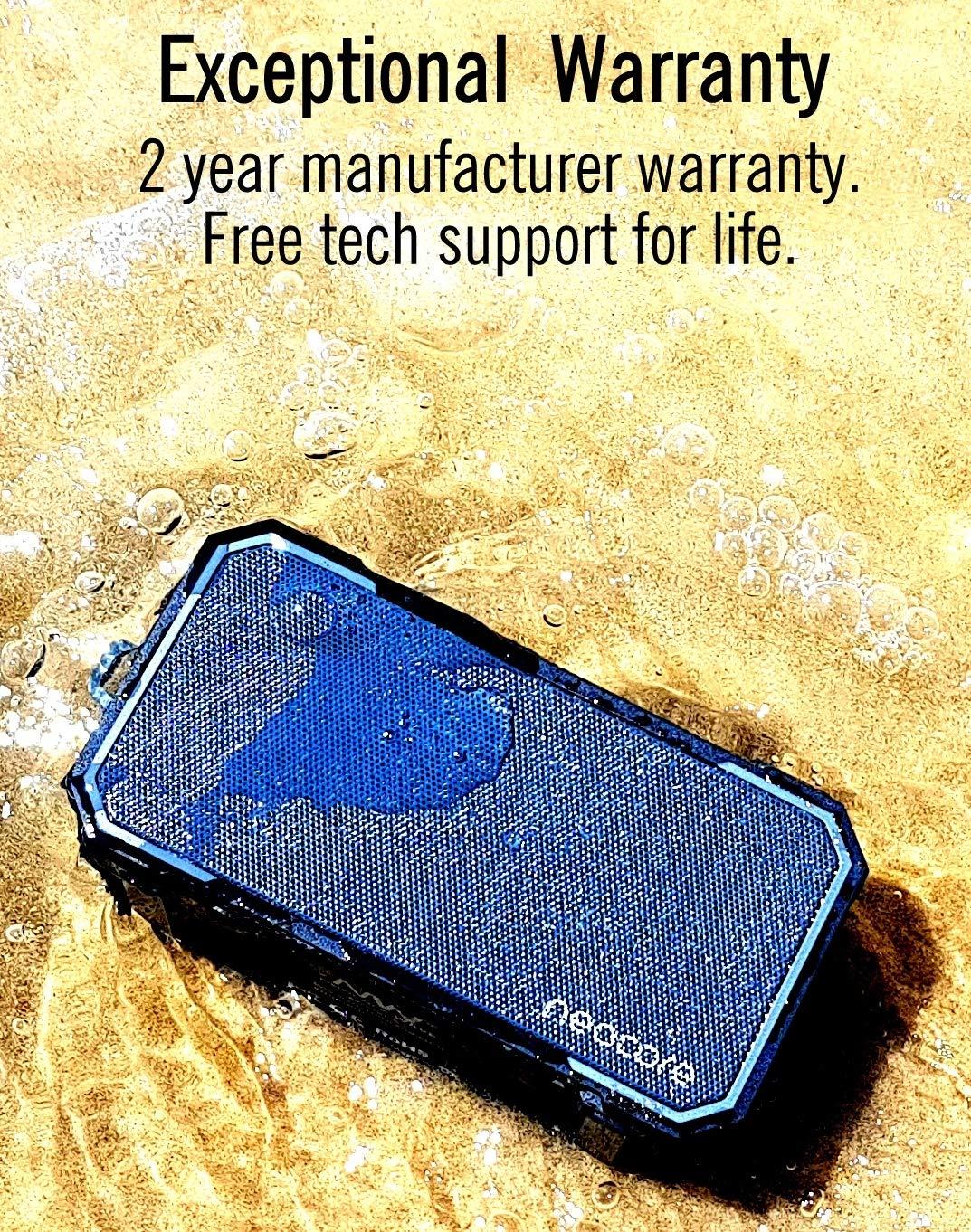 Neocore WAVE A1 Altavoz Bluetooth Portátil, Inteligente e Impermeable para la Ducha o el Exterior con 24 Horas de Duración y Ranura SD 256GB (Blanco): ...