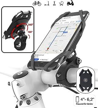 Plp tek Go-Ride-Smart - Soporte Universal de Bicicleta para Smartphones, Giratorio 360°, inclinable 160°, Compatible con ID de Cara y táctil, Apto para la mayoría de Smartphones: Amazon.es: Electrónica