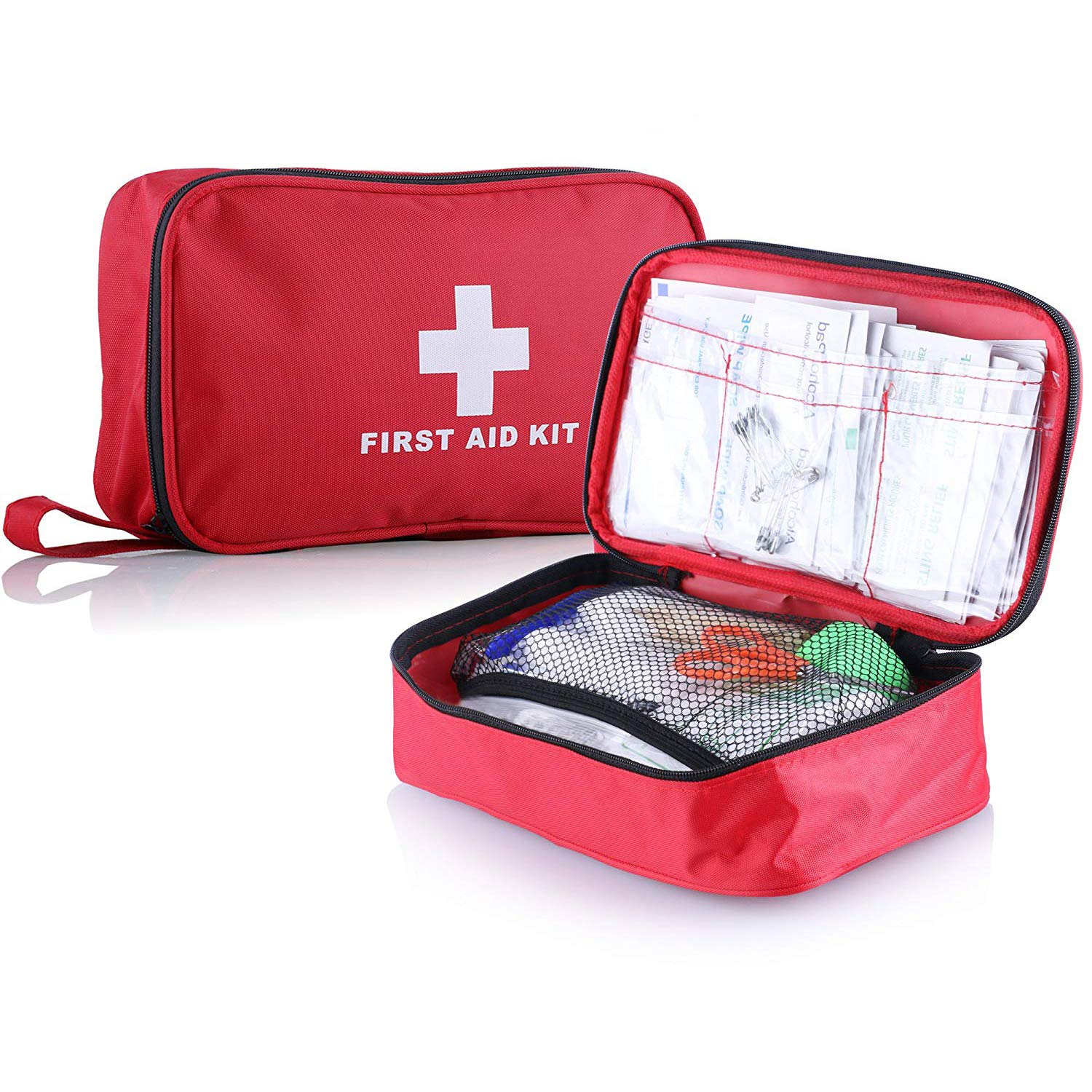First Aid Kit (139 Piece) Mini First Aid Bag with high Quality Medical Supplies Compact for Emergency at Home, Outdoors, Car, Camping, Workplace, Hiking & Survival